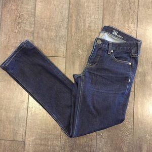 J Crew Matchstick Dark Wash Jeans Size 26 Short